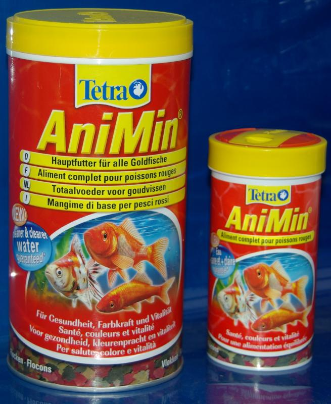 Tetra goldfish animin aliment complet pour poissons for Dose nourriture poisson rouge