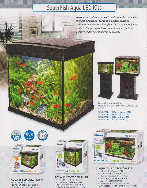Aqua led quip s materiel vpc aquariums meubles et for Aquarium vpc